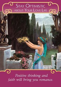 Oracle Card Stay Optimistic About Your Love Life | Doreen Virtue | official Angel Therapy Web site