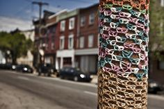 Love this yarn bomb
