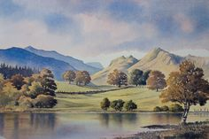 Original Watercolour Paintings and Signed prints of Snowdonia, North Wales, The Lake District, and Scotland by artist Chris Hull. Watercolor Painting Techniques, Watercolor Landscape Paintings, Watercolor Pictures, Landscape Drawings, Landscape Art, Watercolor Paintings, Watercolours, Beautiful Paintings, Beautiful Landscapes