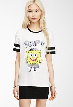 SpongeBob x Mina Kwon Varsity Tee | FOREVER21 - 2002246551