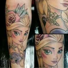 Frozen Elsa tattoo