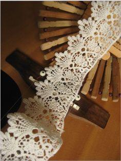 ivory cotton lace trim antique lace vintage by WeddingbySophie