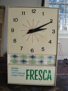 Vintage Fresca Clock for Christophers office