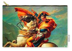Napoleon Bonaparte Carry-all Pouch featuring the mixed media Napoleon At The Saint-bernard Pass by David