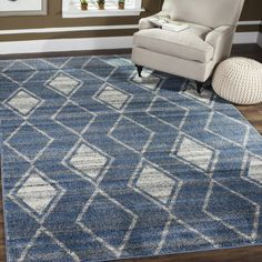 TUN296L Rug from Tunisia collection.  Rustic and casual, the Tunisia collection by Safavieh celebrates the rug weaving traditions of North Africa's ancient Berber tribes. Their simple geometric stripes, triangle and diamond motifs are the inspiration for soothing designs for rugs that are power loomed of long-wearing polypropylene in a palette of natural mountain-wool tones.