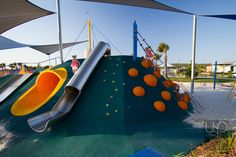 Rubber made embankment with domes, tunnel and cleats - Blue Park @ Bells Reach, Caloundra
