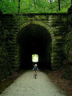 Katy Trail in Rocheport Missouri