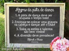 lousa pista de dança