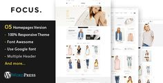 Focus - Fashion Responsive WooCommerce WordPress Theme