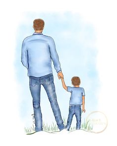 Father and son wall art by Alison B illustration. Original, hand sketched design, by Irish Fashion illustratort by Alison B. Fathers Day Cake, Happy Fathers Day, Mothers Day Drawings, Dad Cake, Dad Birthday Cakes, Mother Art, Boy Drawing, Family Illustration, Fashion Wall Art