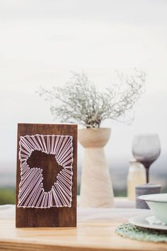 Africa Table Number   Earthy South African Wedding Inspiration by Because Life Photography