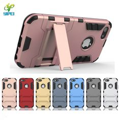 for iPhone 7 7Plus 3 in 1 TPU+PC+Stand case Iron Man case for iPhone 5 5S SE 6 6s Plus Back Cover with holder +screen protector