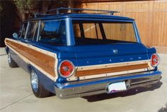 1950 ford custom station wagon | 1964 FORD FALCON SQUIRE CUSTOM STATION WAGON - Barrett-Jackson ...