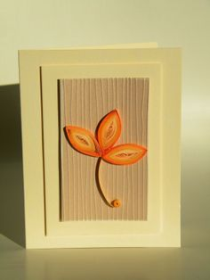 Quilling by Anca Milchis: Autumn quilling card / Felicitare de toamna