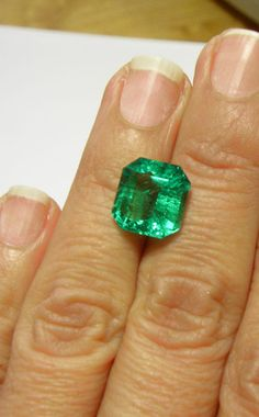 6.55CT FINEST NATURAL LOOSE COLOMBIAN EMERALD AAAA+ QUALITY 12.40x11.69mm   eBay