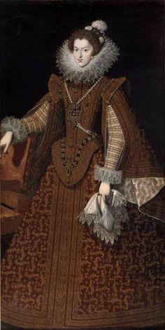 Juan VAN DER HAMEN Y LEON (attribué à) (Madrid , 1596 - Madrid , 1631) Portrait de Marie d'Autriche, Reine de Hongrie