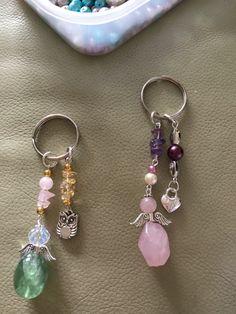 Gemstone key or bag charms