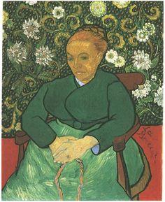 Vincent van Gogh Painting, Oil on Canvas Arles: December, 1888 Kröller-Müller Museum Otterlo, The Netherlands, Europe F: 504, JH: 1655  Van Gogh: La Berceuse (Augustine Roulin) Van Gogh Gallery
