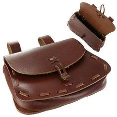 Leather Medieval Belt POUCH for Rennie Faire Pirate SCA LARP Festival Bag Ren
