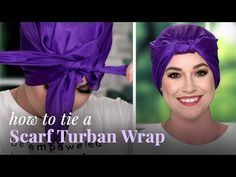 How To Tie A Square Headscarf Turban Style By the end of today's video you'll be able to tie a square headscarf turban style. Ways To Tie Scarves, Losing Hair Women, Head Scarf Tying, Head Scarf Styles, Turban Style, Scarf Hairstyles, Headdress, Head Wraps, Long Hair Styles