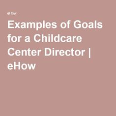 job description for child care director
