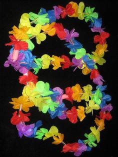 Collares Hawaianos Fluo 6 leds.