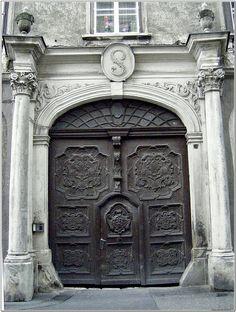 Sopron - Hungary ..rh Grand Entrance, Entrance Doors, Doorway, Door Hinges, Door Knockers, Door Knobs, Porches, Portal, Abandoned Churches