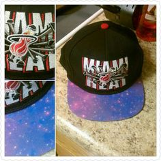 Miami Heat custom Galaxy print brim. One of my favorite customs ive done.