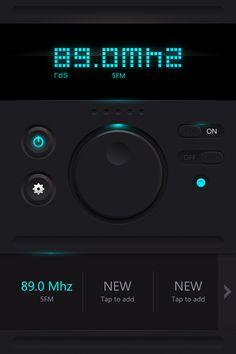 FM Radio - UI Design D by Zoe Love