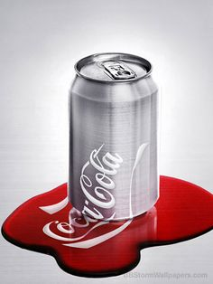 Melted Coca Cola Can Wallpaper