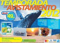 Avistamiento de Ballenas Jorobadas! Disfruta de la danza de apareamiento de estos cetáceos. Desde $49.99, mas información info@makecuador.com
