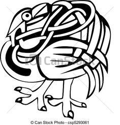 celtique, oiseau, conception - csp5293061