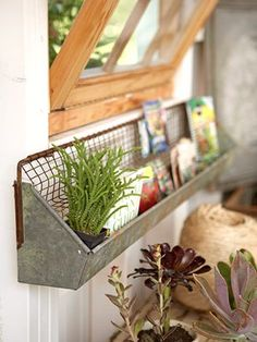chick feeder shelf - this would be awesome in the bathroom for toiletries and things above a sink! love it! Thanks @Donna Funky Junk Interiors !!!