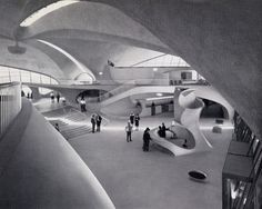 Jetset chic '50s and '60s style. This period embodied incredible forward-thinking design - both interior and exterior. TWA Flight Center, Idlewild Airport, 1962 [via Architizer].