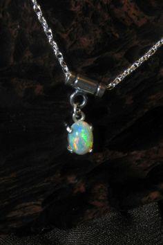 Welo Opal Pendant  Sterling Silver 925 Original by KJOFineArt, $85.00