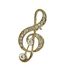 Joji Boutique - golden bejeweled treble clef pin (http://www.jojiboutique.com/products/golden-bejeweled-treble-clef-pin.html)