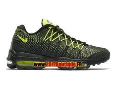 Nike Air Max 95 Ultra Jacquard Chaussure de Basketball Nike Pas Cher Pour Homme Noir/Vert 749771-007