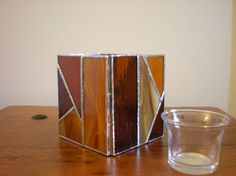 Stained Glass Candle Holder with van DesertGirlGlass op Etsy