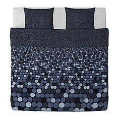 SMÖRBOLL Dynebetræk og 2 pudebetræk, grå - grå - 240x220/60x70 cm - IKEA
