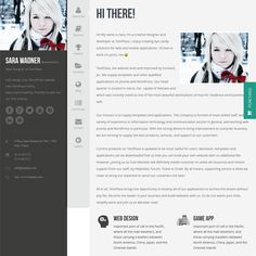 This resume WordPress theme offers a responsive layout, a clean design, social media icons, shortcodes for pricing tables, buttons, skills, and tabs, a portfolio section, a contact page with Google Maps integration, a fullscreen image gallery, and more.