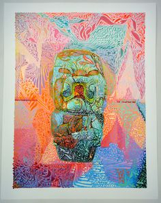 "Saatchi Online Artist Oliver Halsman Rosenberg; Painting, ""Self Portarit as Olmec Baby (3 of 6)"" #art"