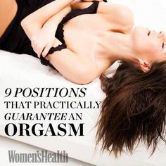 Best sex position for an orgasm