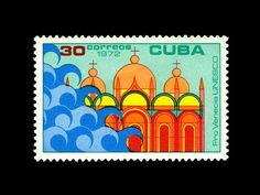 unesco-cuba-stamp-1970s save venice series; from Iain Follett's stamp collection featured in Creative Review's Jan 08 Monograph.  Interview by Grain Edit.
