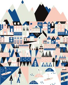 Make your own Scandinavian village – Saskia Rasink | http://www.saskiarasink.nl