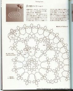 tatting pattern...diagram makes up for the foreign language, yes?: