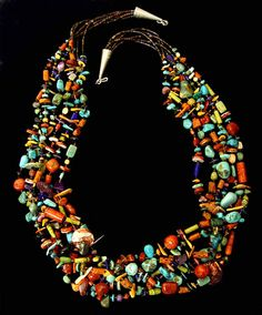 Stunning Multi Color Multi Stone Necklace - Native American and Southwest Art and Jewelry Turquoise Tortoise Gallery, Sedona