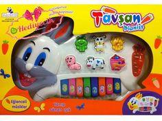 Oyuncak Hayvan Sesli Piano Tavşan