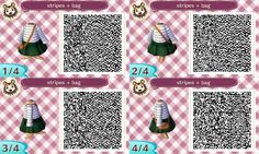Animal Crossing Designs, trying out some bags, outfit on the right is from...