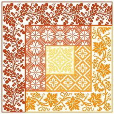 Log Cabin Autumn cross stitch pattern Pdf $8.00 on Gracewood Stitches at http://gracewoodstitches.com/?page_id=1016