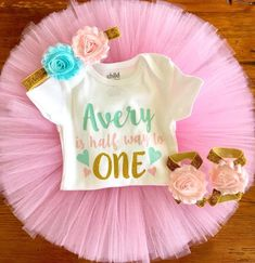 Half Birthday Outfit – Tutu Cute By Carrie